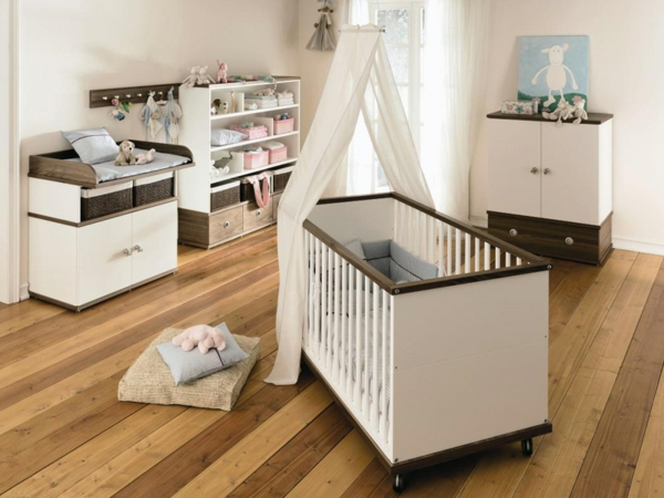 le ciel de lit b b prot ge le b b en d corant sa chambre. Black Bedroom Furniture Sets. Home Design Ideas
