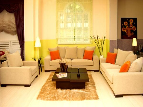 coloré-salle-de-séjour-en-beige