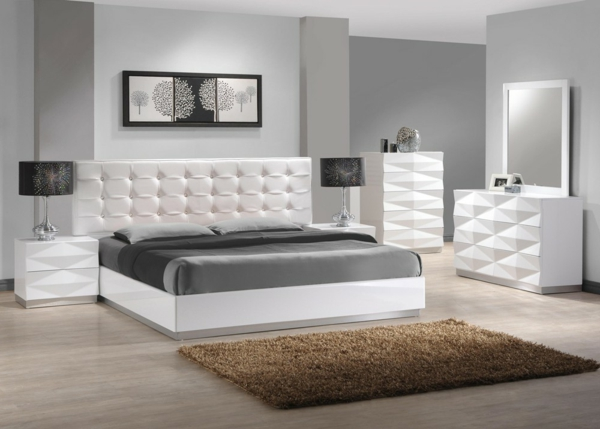 Awesome Modele De Chambre A Coucher Blanche Gallery - Amazing ...