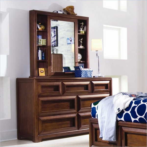 coiffeuse pour fille en bois simple jolie coiffeuse avec miroir conforama de style retro chic. Black Bedroom Furniture Sets. Home Design Ideas