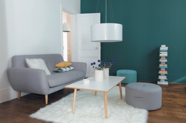 salon scandinave bleu le fauteuil design scandinave - Salon Gris Scandinave
