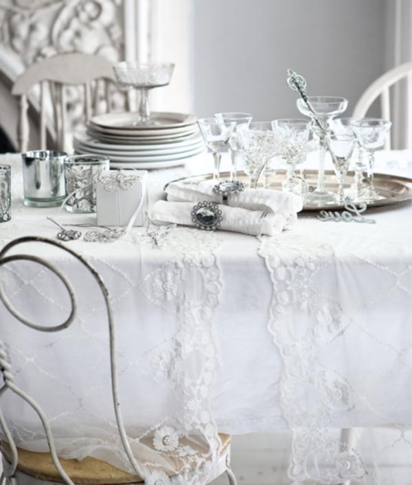 Blanche d co de table de no l 50 id es - Decoration de table idees ...