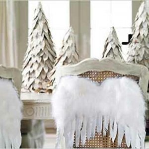 Blanche déco de table de Noël -50 idées