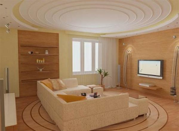 La salle de s jour en beige - Couleur de salon moderne ...