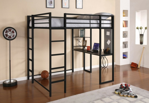 le lit mezzanine et bureau plus d 39 espace. Black Bedroom Furniture Sets. Home Design Ideas