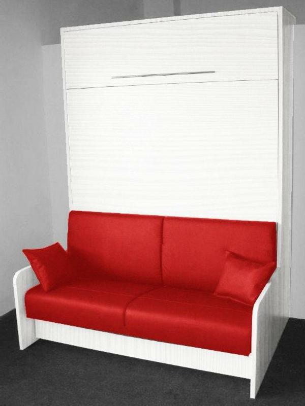 L 39 armoire lit escamotable pour plus d 39 espace - Canape avec pouf integre ...