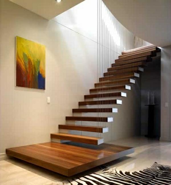 escalier-flottant-en-boi-sombre