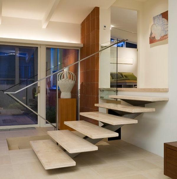 escalier-flottant-en-bois-escalier-à-limon-central