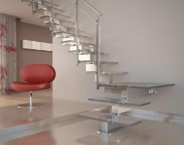 escalier-flottant-en-verre-intérieur-minimaliste-joli