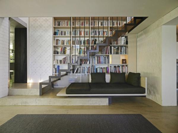 escalier-flottant-et-bibliothèque