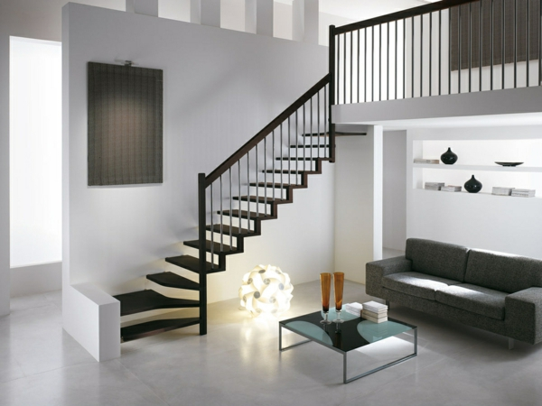 diff rents designs d 39 escalier flottant une modernit trange. Black Bedroom Furniture Sets. Home Design Ideas