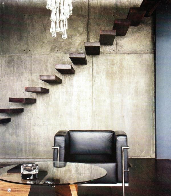 escalier-flottant-intérieur-éclectique