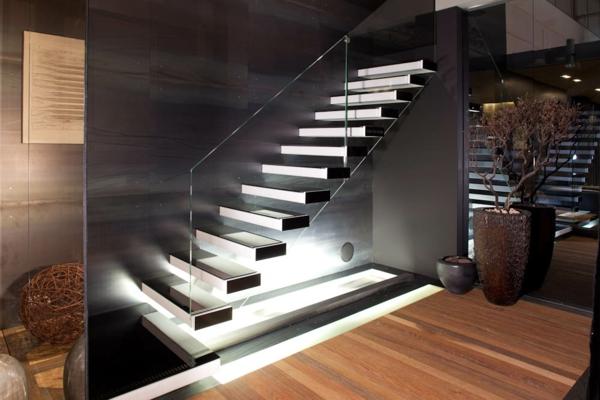 escalier-flottant-moderne-et-un-bonsai