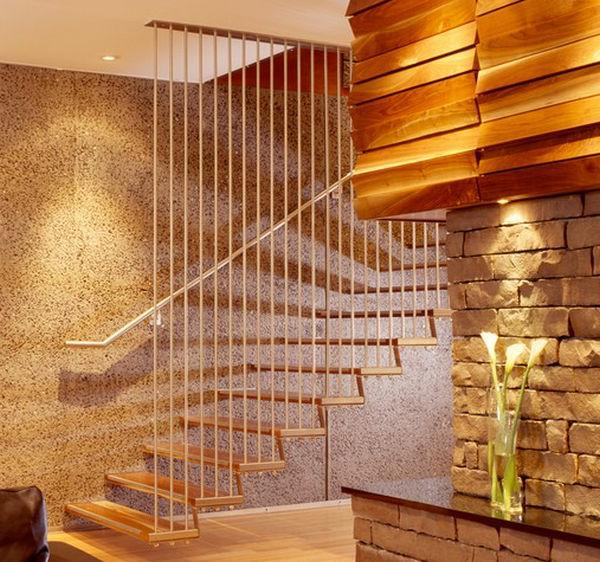 Diff rents designs d 39 escalier flottant une modernit for Bois flottant mural