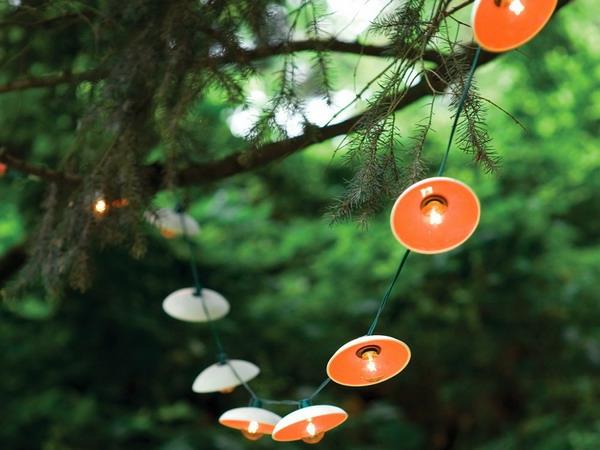 guirlande-lumineuse-d' extérieur-disques-en-porcelaine-orange