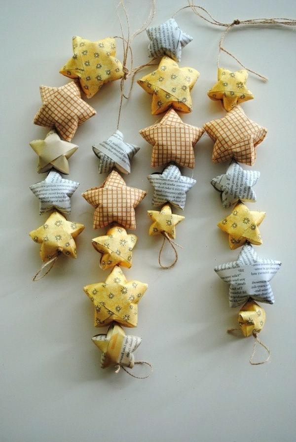 guirlande-origami-étoiles-en-papier