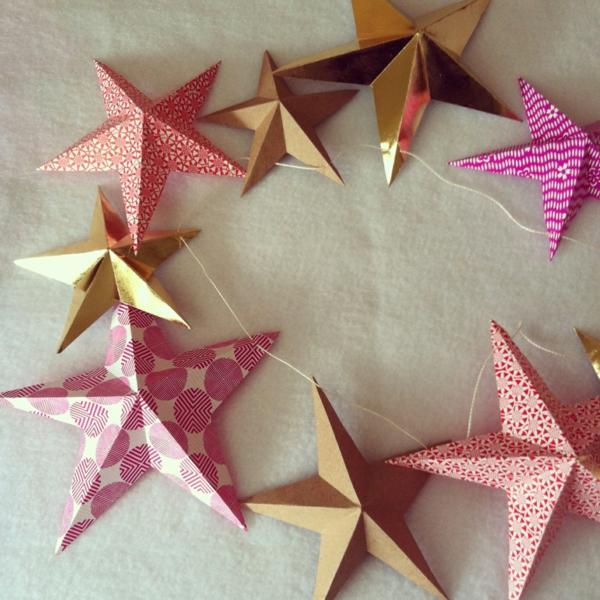 guirlande-origami-étoiles