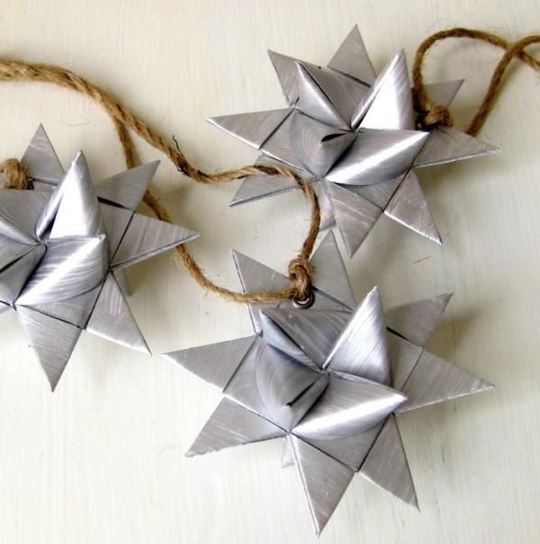 guirlande-origami-papier-argenté
