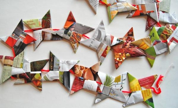 guirlande-origami-papier-recyclé