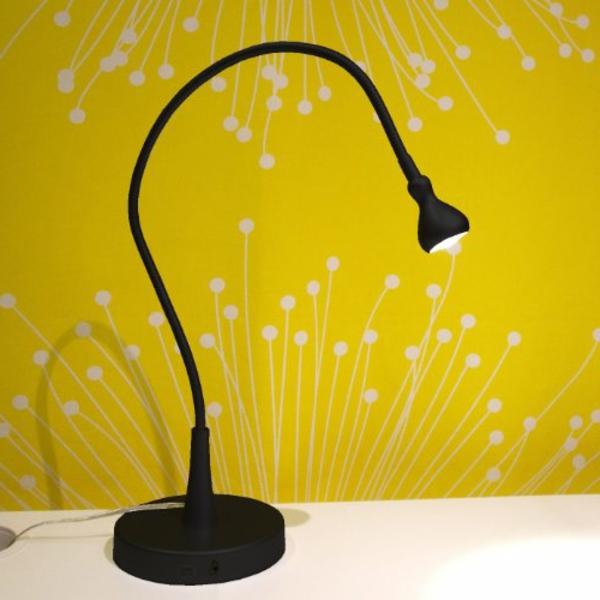 lampe-de-bureau-ikea-lampe-noire-réglable