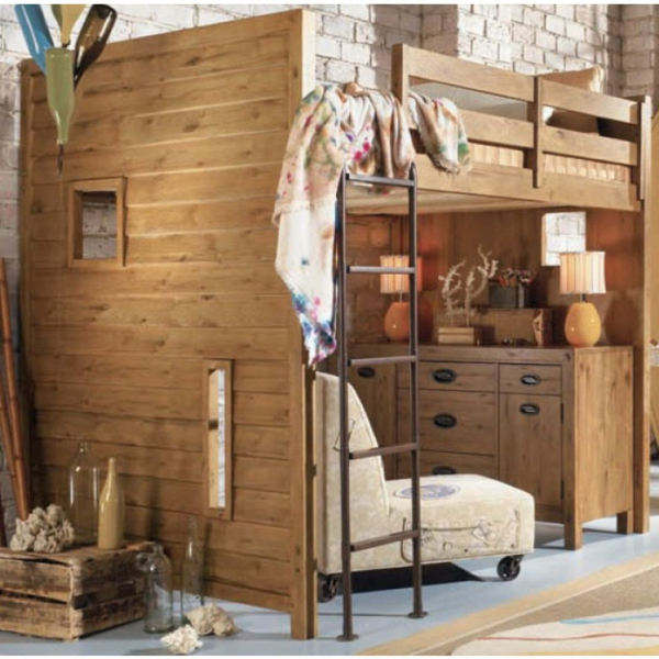 Le lit mezzanine et bureau plus d 39 espace Lit mezzanine original