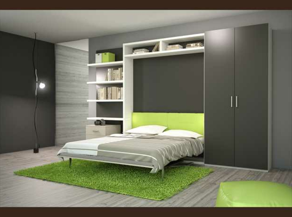l 39 armoire lit escamotable pour plus d 39 espace. Black Bedroom Furniture Sets. Home Design Ideas