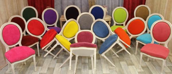 lot-chaises-medaillon-moderne-multicouleurs