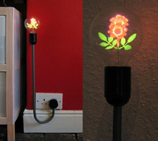 design d'ampoule de rose