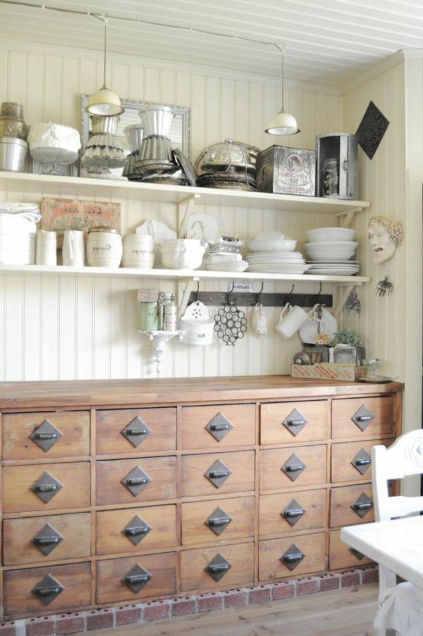 Le meuble apothicaire cr e un style rare d coratif for Meuble de cuisine retro