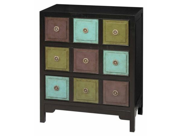 meuble-apothicaire-casiers-turquoises-verts-et-marrons