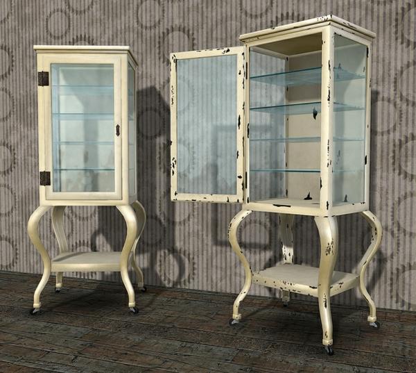 meuble-apothicaire-deux-meubles-blancs-avec-vitrine