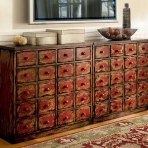 Le meuble apothicaire crée un style rare décoratif