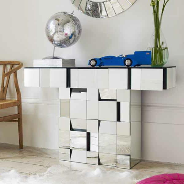 meuble-console-d' entrée-conosle-miroir