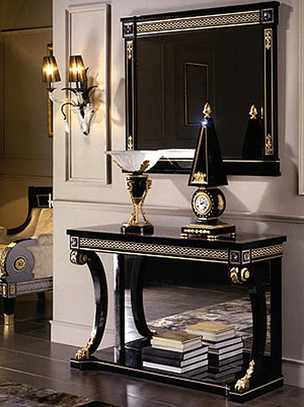 meuble-console-d' entrée-console-noire-design-imposant