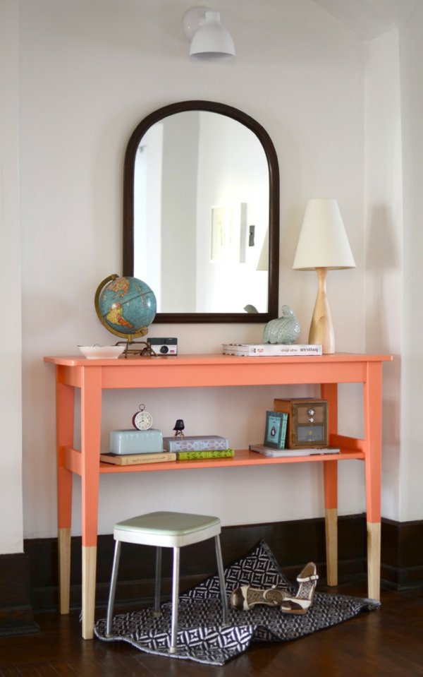 meuble-console-d entrée-console-orange