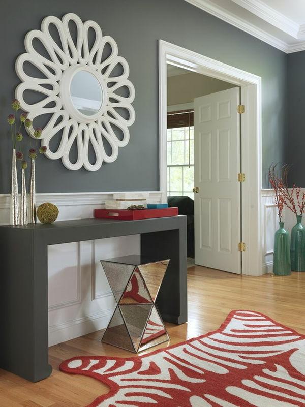 meuble-console-d' entrée-design-gris-moderne