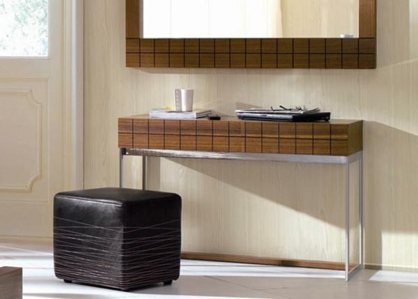 meuble-console-d' entrée-en-bois-et-acier