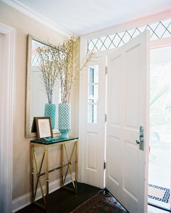 meuble-console-d' entrée-et-miroir-rectangulaire