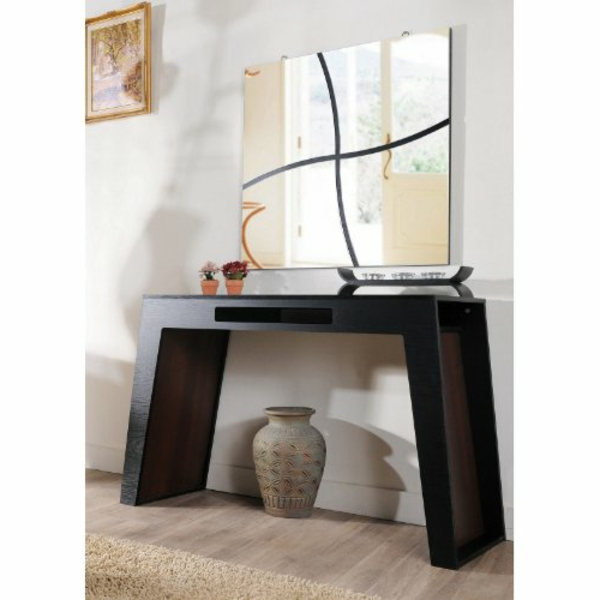 Console murale suspendue beautiful meuble duentre - Miroir suspendu porte ...