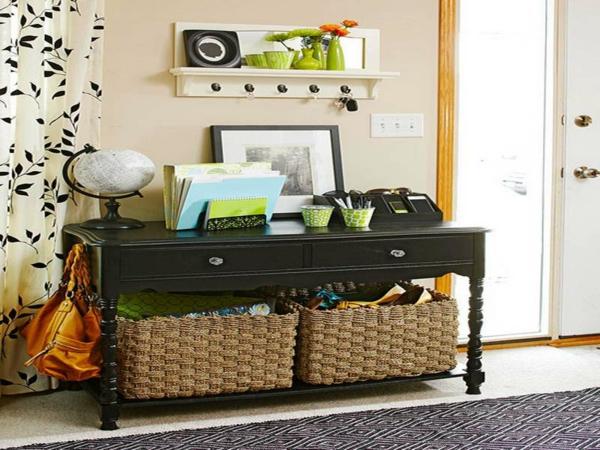 meuble-console-d' entrée-et-rangement-intéressant