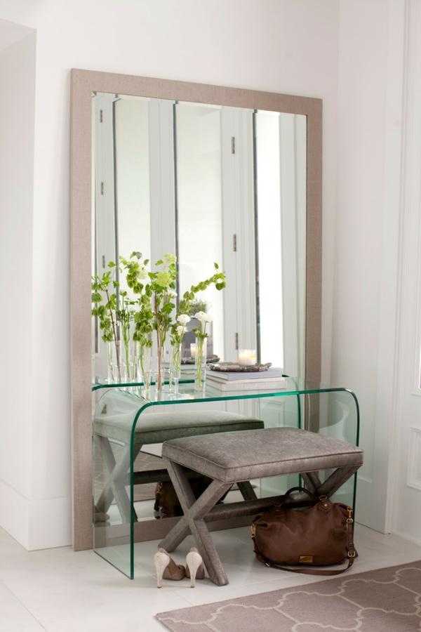 meuble-console-d' entrée-foyer-incroyable-console-en-verre