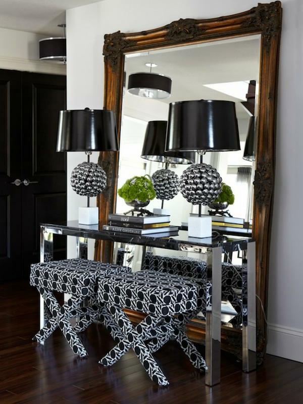 Le meuble console d 39 entr e compl te le style de votre for Grand miroir sans encadrement