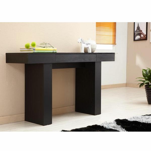 meuble-console-d' entrée-noire