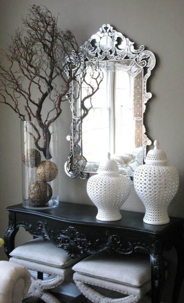 Le meuble console d 39 entr e compl te le style de votre for Interieur baroque moderne