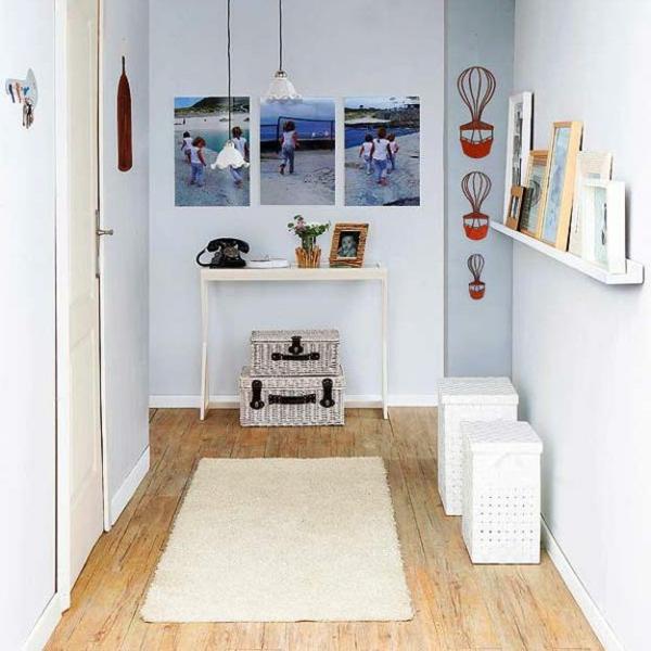 meuble-console-d entrée-un-foyer-blanc