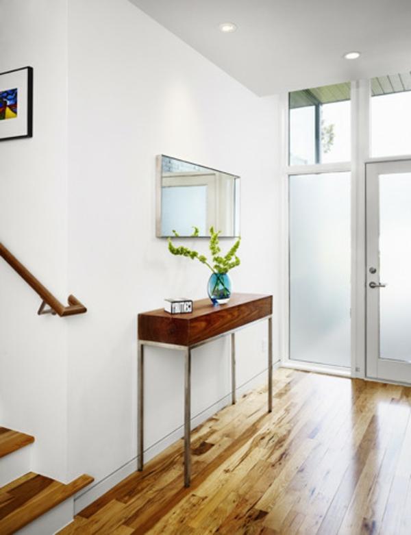 meuble-console-d' entrée-une-console-moderne-en-bois-et-acier