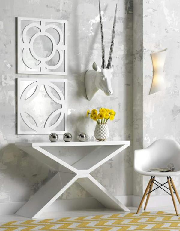 meuble-console-d' entrée-une-entrée-blanche