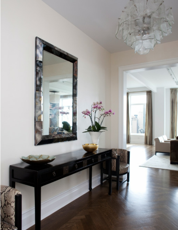 console avec miroir pour entree. Black Bedroom Furniture Sets. Home Design Ideas