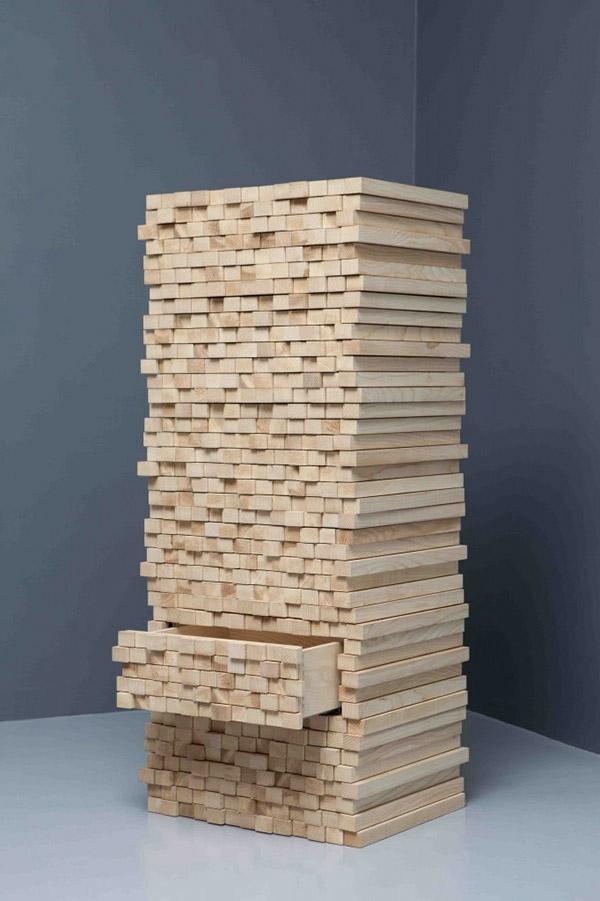 meuble-semainier-bois-clair-design-créatif