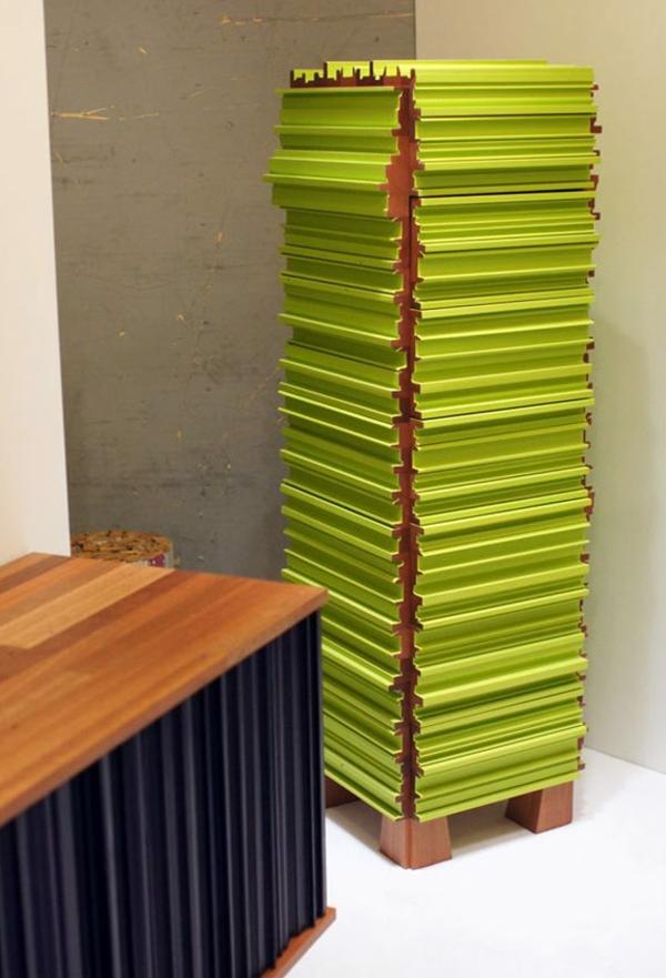 meuble-semainier-vert-original